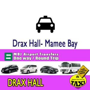 drax hall airport transfer