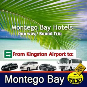 Kingston airport to Montego bay